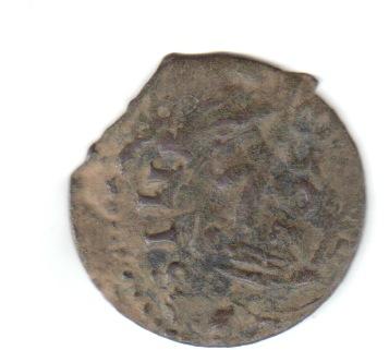 16 maravedís Felipe IV falsos, con resello falso. Falsan10