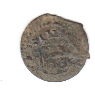 16 maravedís Felipe IV falsos, con resello falso. Falsan11