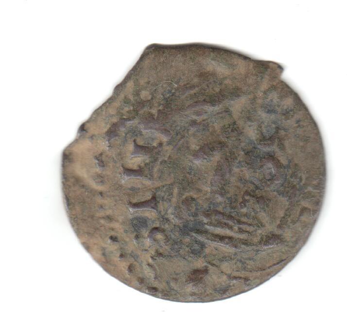 16 maravedís Felipe IV falsos, con resello falso. Falsan12