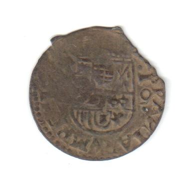 16 maravedís Felipe IV falsos, con resello falso. Falsre10