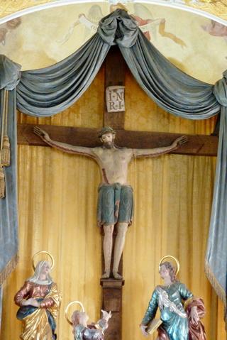 Crucifixión con la Santa Cruz de Biberbach / Cinco Santos de las Catacumbas romanas, S. XVII ( R.M.SXVII-O449)  Biberb10