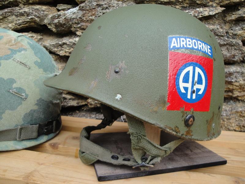 CASQUE US 82nd AIRBORNE 1967 VIETNAM Dsc03337