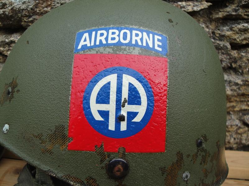 CASQUE US 82nd AIRBORNE 1967 VIETNAM Dsc03343