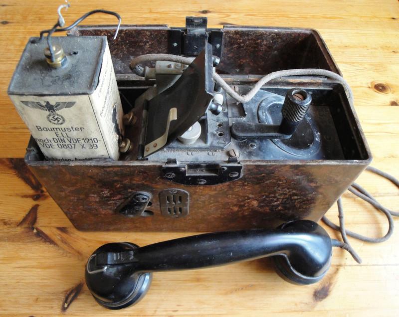 TELEPHONE DE CAMPAGNE WEHRMACHT Dsc03533