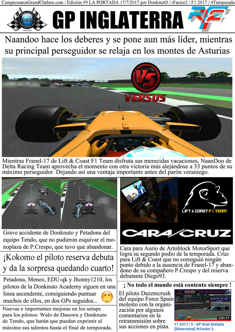 Titulares y Crónica del GP del Reino Unido (rFactor2) Portad10