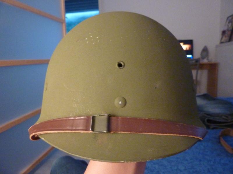 Identification casque US M1 WW2 P1030416