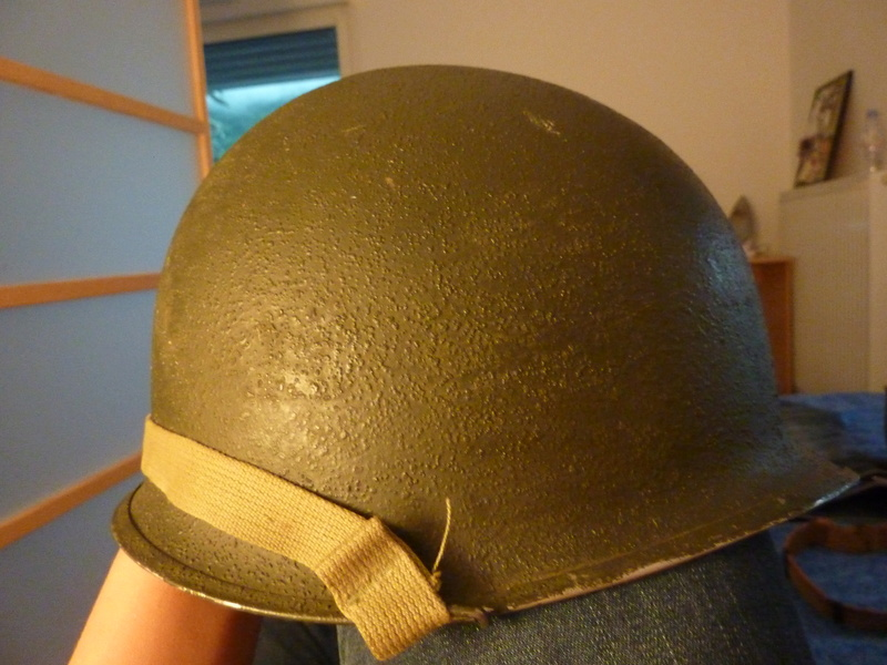Identification casque US M1 WW2 P1030428