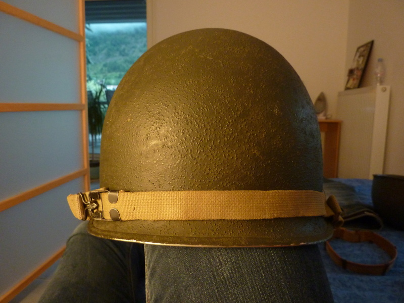Identification casque US M1 WW2 P1030429