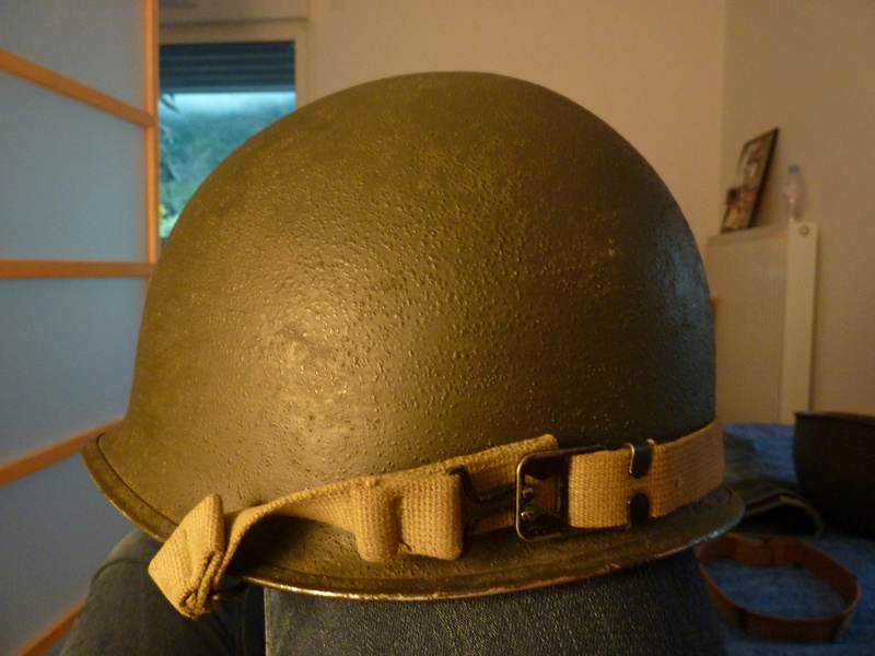 Identification casque US M1 WW2 P1030430