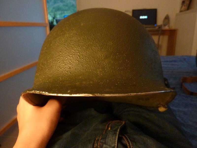 Identification casque US M1 WW2 P1030433