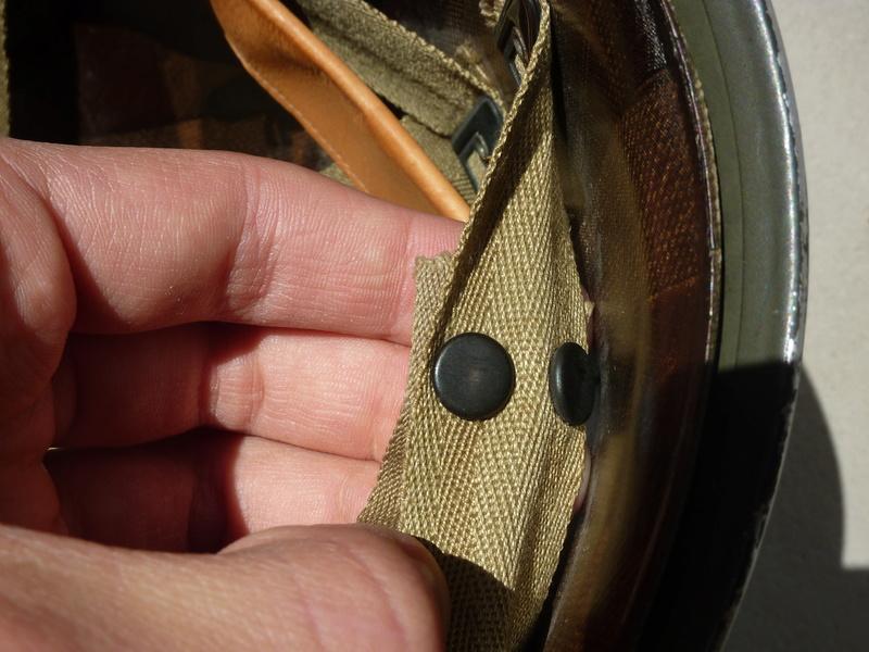 Identification casque US M1 WW2 P1030441