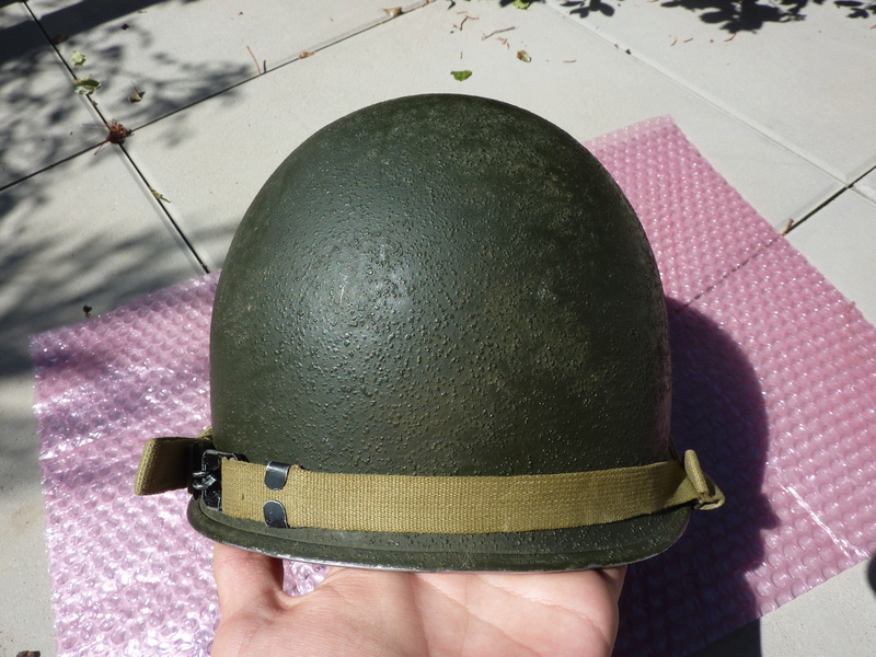 Identification casque US M1 WW2 P1030456