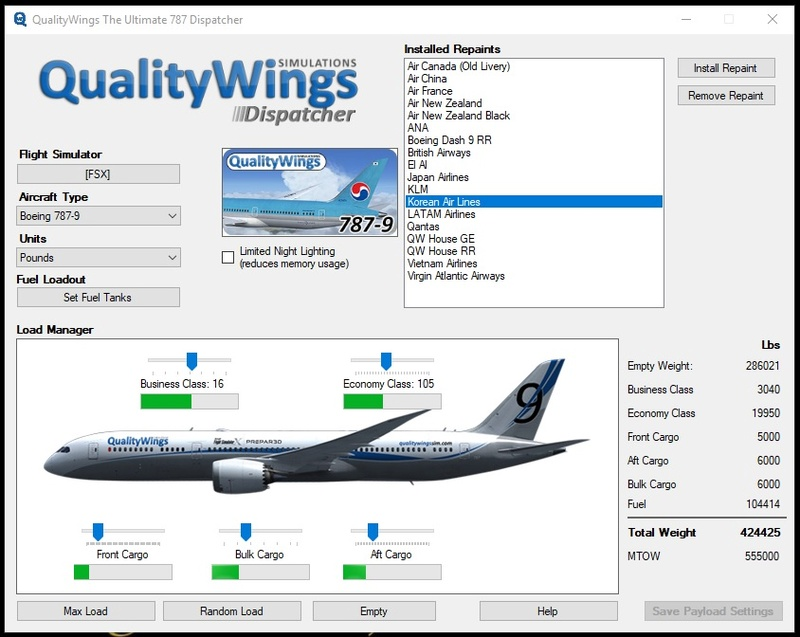 QualityWings 787 Dreamliner para FSX (Review de Eduardo Santos) 510