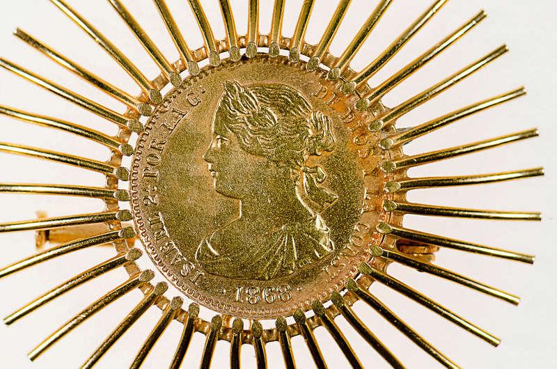 10 escudos 1868 (*68). Isabel II. Madrid. Cara10