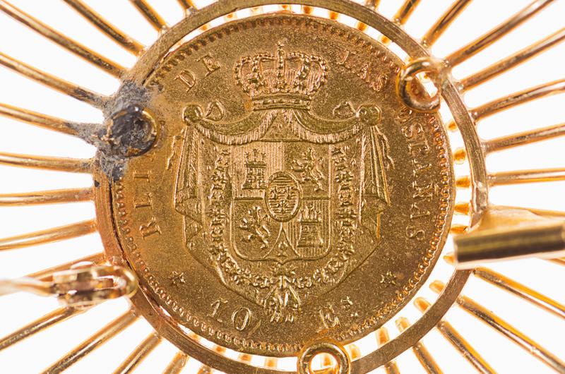10 escudos 1868 (*68). Isabel II. Madrid. Creu10