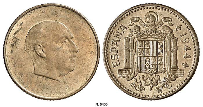 1 peseta 1946. Estado Español. ¿Prueba de circulación? - Página 8 0433g10