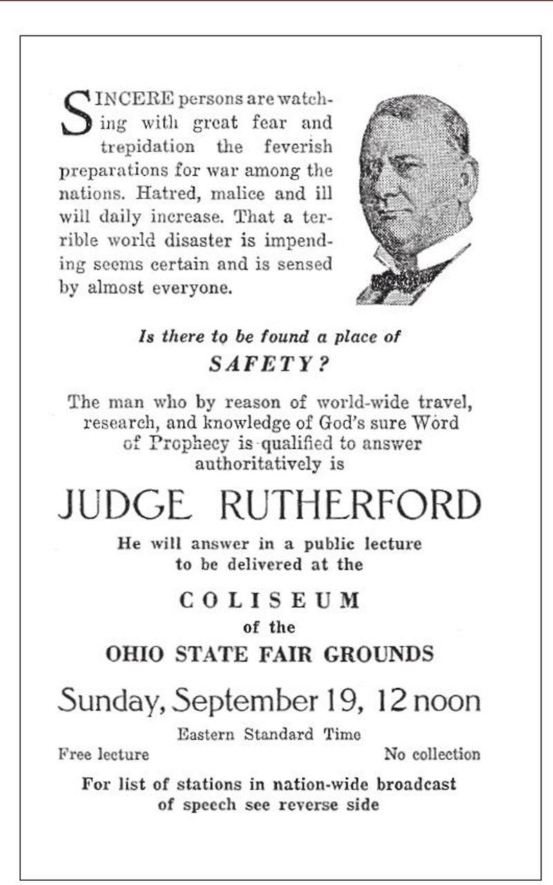 El juez Rutherford obligaba a predicar, pero él no lo hacía. Screen13