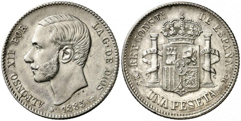 1 peseta 1885 Alfonso XII. Opinión  110