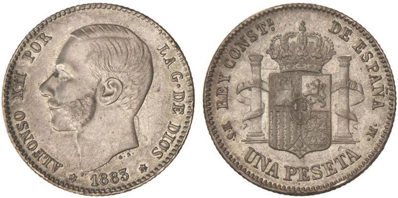1 peseta 1885 Alfonso XII. Opinión  210