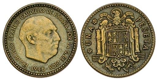 1 peseta 1946. Estado Español. ¿Prueba de circulación? - Página 10 211