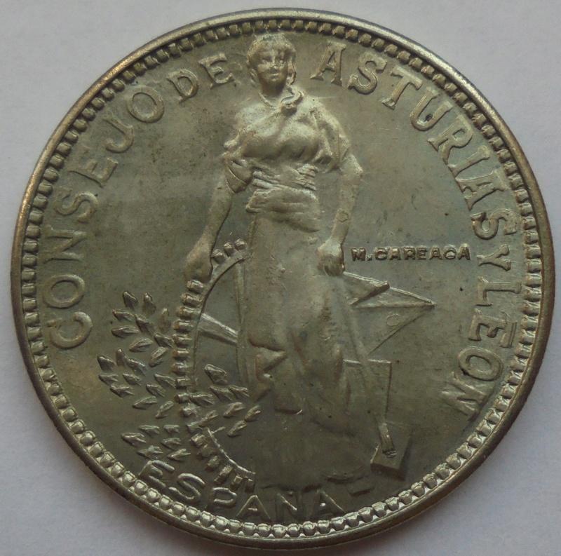 2 pesetas 1937. Consejo de Asturias y León. II Guerra Civil Dsc07510