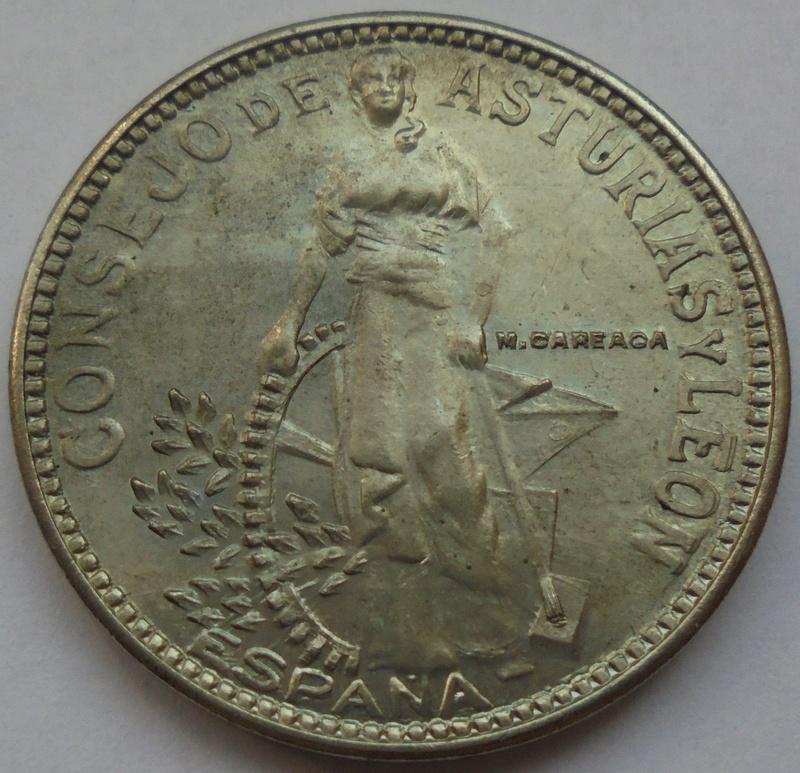2 pesetas 1937. Consejo de Asturias y León. II Guerra Civil Dsc07511