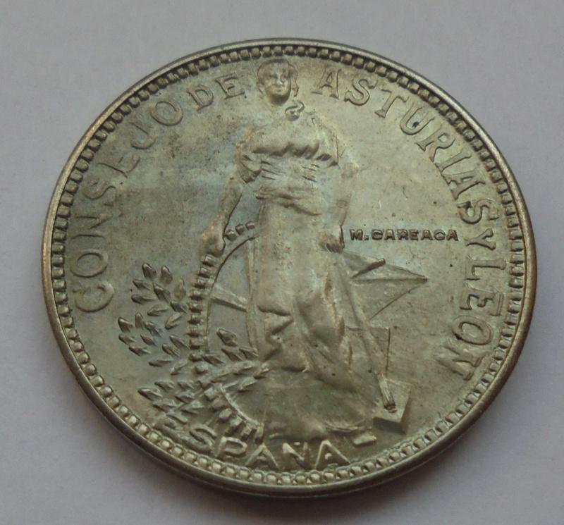 2 pesetas 1937. Consejo de Asturias y León. II Guerra Civil Dsc07513