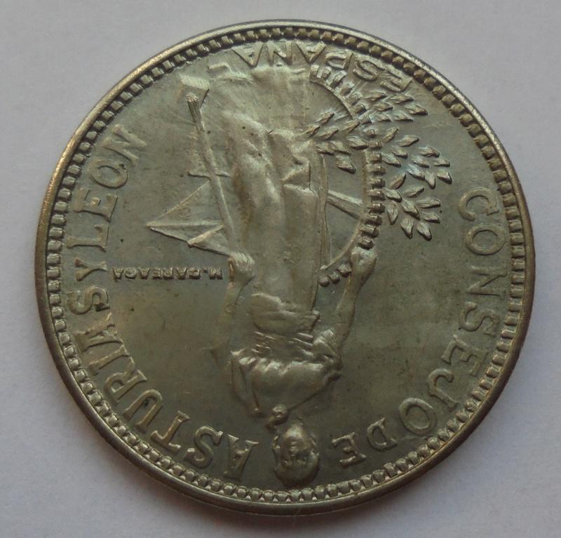 2 pesetas 1937. Consejo de Asturias y León. II Guerra Civil Dsc07514