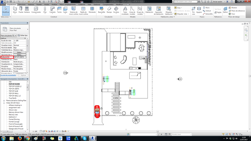¿como puedo ver en plano planta nivel 2 y que se vea el nivel 1? 11111111