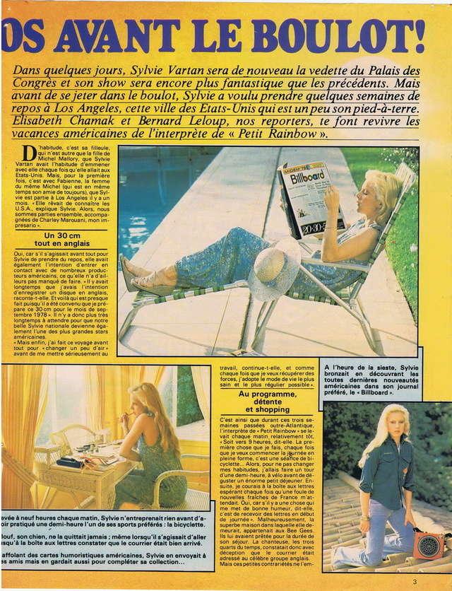 RETROSPECTIVE DE LA DISCOGRAPHIE - Page 10 19780312