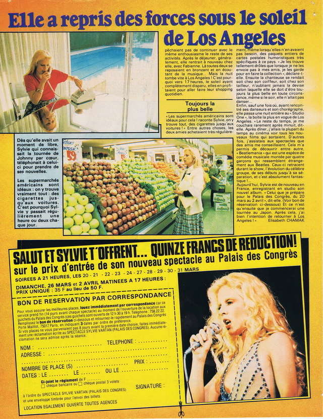 RETROSPECTIVE DE LA DISCOGRAPHIE - Page 10 19780313