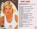 """Discographie N° 76 """"TAPE TAPE"""" 19800913"""