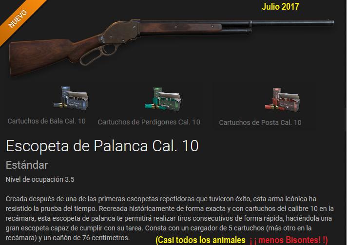 COMENTARIOS Escopeta de Palanca calibre.10 ( Julio 2017) Escope10