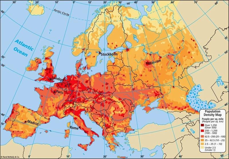 Population Density Map Europe10