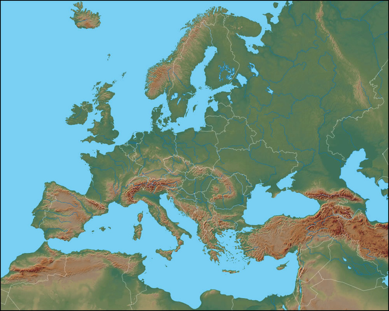 Physical Map of Europe Europe11