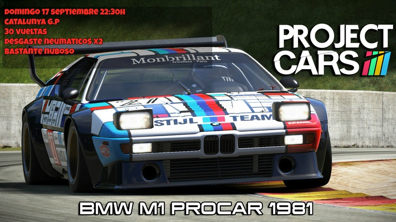 Evento BMW M1 PROCAR // Catalunya GP (DOMINGO 17 SEPT, 22:30H)   Cartel11