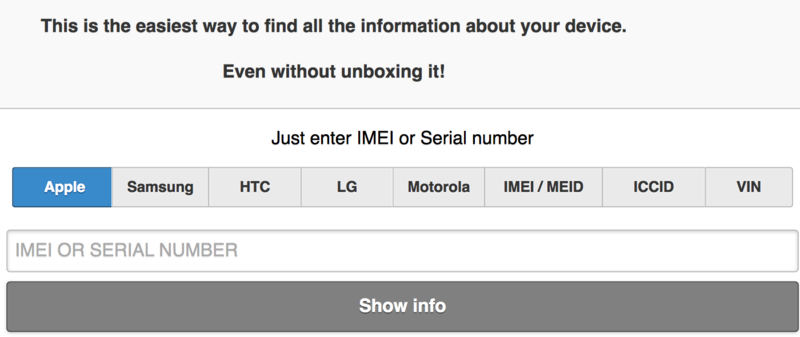 Just enter IMEI or Serial number Oaooe_58