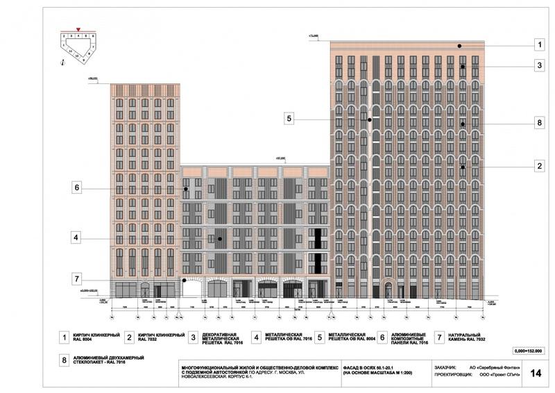 Согласовано архитектурное решение ЖК рядом с метро «Алексеевская» 210