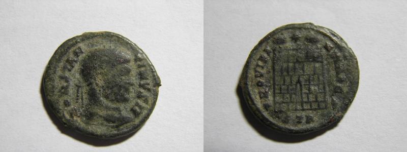 AE3 de Constantino II. PROVIDENTIAE CS. Trier, cuño no oficial. P7040610
