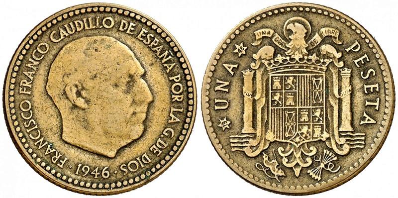 1 peseta 1946. Estado Español. ¿Prueba de circulación? - Página 6 149610