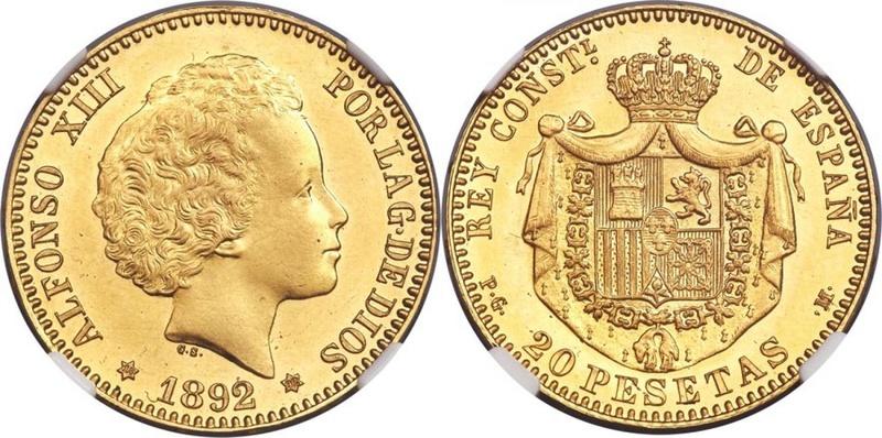 20 pesetas 1892 en Heritage de asombro 20_pes10