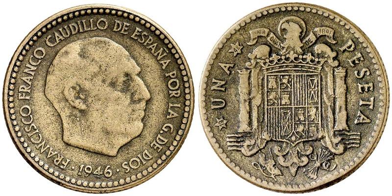 1 peseta 1946. Estado Español. ¿Prueba de circulación? - Página 6 272810