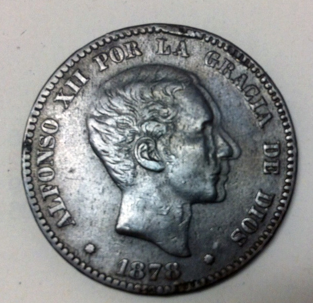 10 céntimos 1878 Alfonso XII OM. Opinión Anvers11