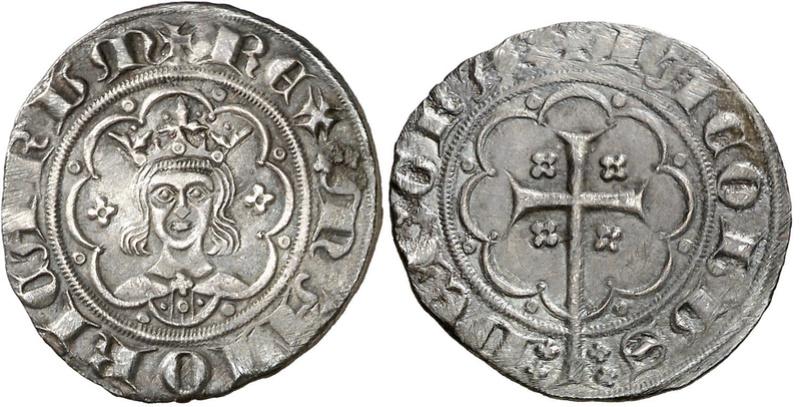 """Subastado en Classical Numismatic un """"mig ral"""" de Jaume III (sic), rey de Mallorca Ramon_10"""