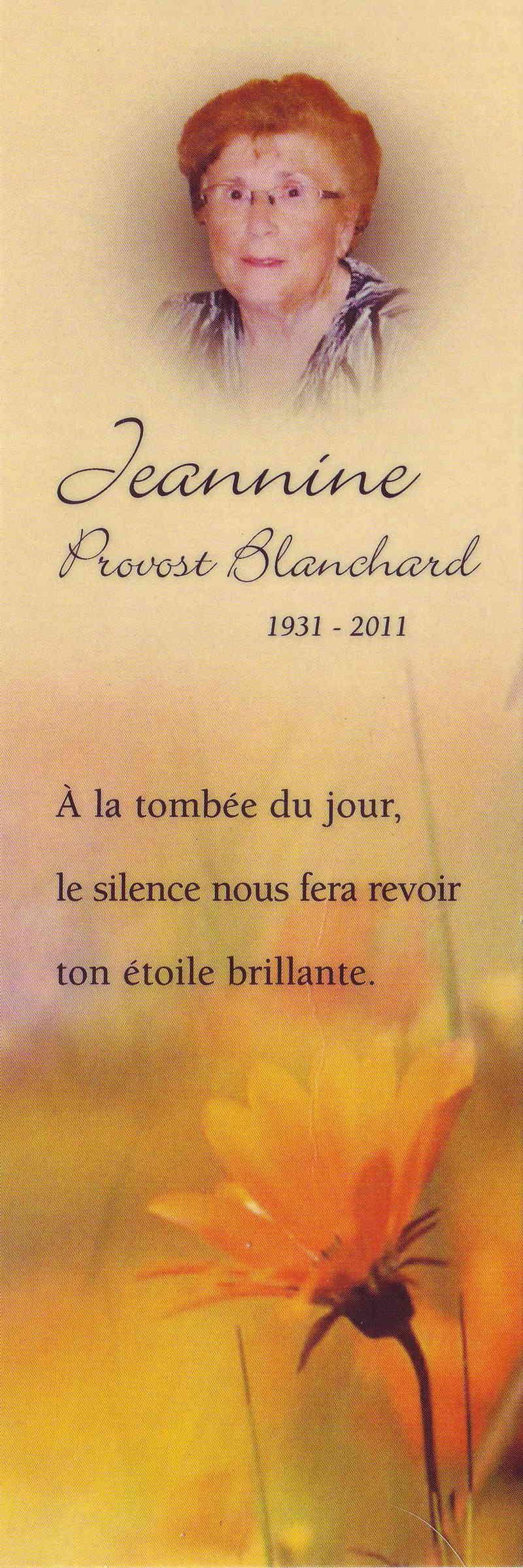 Provost Blanchard, Jeannine Provos10