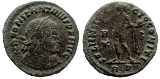 Nummus de Constantino I. SOLI INVICTO COMITI. Roma Consta10
