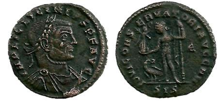 Nummus de Licinio I. IOVI CONSERVATORI AVGG NN. Siscia Licini10