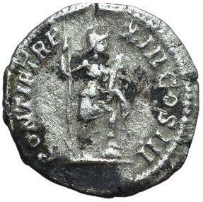 Denario de Caracalla. PONTIF TR P XIII COS III. Virtus Smg_8011