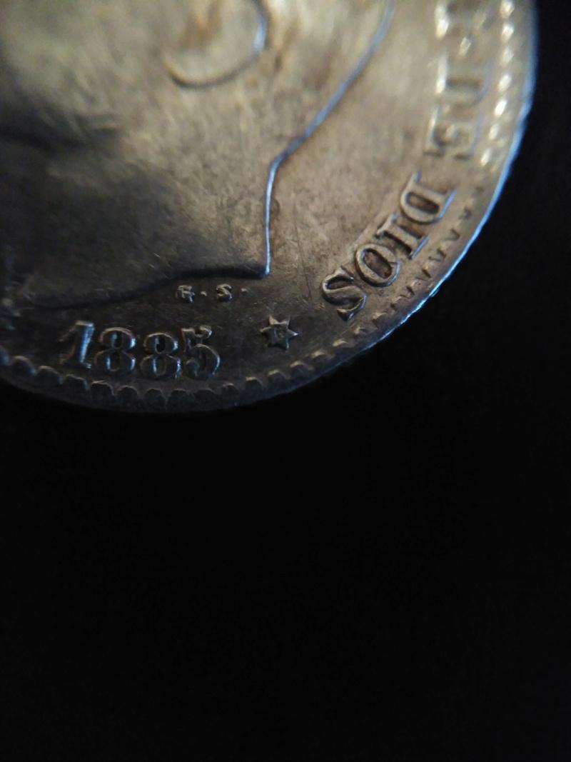 moneda de 50 centimos alfonso XII 1885*8-6 2017-012