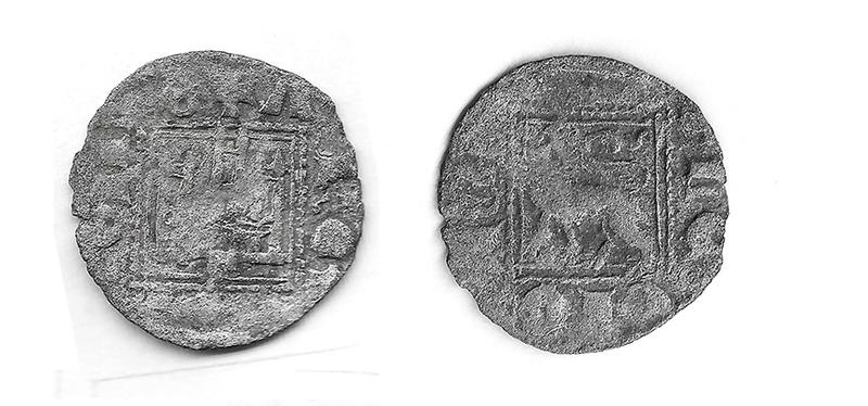 Dinero de Alfonso XI emisión de 1330 Alfons10